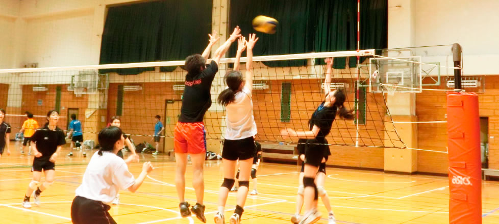 Women's volleyball team at the  University of Tokyo